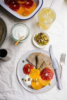 Wholehearted Eats : Whole Grain Pancakes with Moroccan Oranges