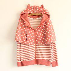Fabric Material: Cotton  Color: navy, pink, light gray  Size: Free  Bust 104 cm Shoulder 48cm Sleeve 60cm Length 64cm