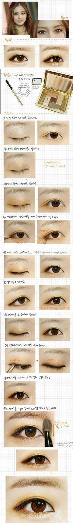 Korean Natural Eyebrow Tutorial by Liah Yoo - Korean Makeup Asian Makeup Looks, Korean Eye Makeup, Makeup Tips, Beauty Makeup, Hair Makeup, Eyebrow Makeup, Makeup Products, Monolid Makeup, Asian Make Up