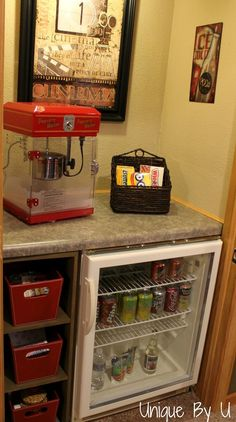 snack station for basement movie room