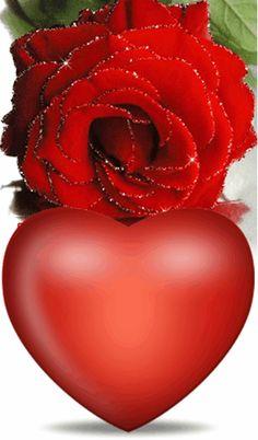 Heart Gif, Love Heart, Romantic Love Images, Good Morning Gif, Heart Wallpaper, Beautiful Gif, Christmas Bulbs, Holiday Decor, Flowers