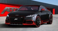 New Audi TT Earns Its First ABT Tuning Stripes | Carscoops Fast Sports Cars, Exotic Sports Cars, Sport Cars, Weird Cars, Crazy Cars, Alfa Romeo Cars, Bmw Series, Audi Rs, Thing 1