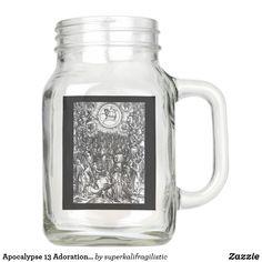 Apocalypse 13 Adoration of the Lamb Mug Mason Jar Glasses, Mason Jars, Apocalypse, Lamb, Just For You, Mugs, Tableware, Dinnerware, Tumblers