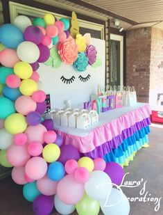 Diy Unicorn Birthday Party, 1st Birthday Parties, Birthday Ideas, Girl Birthday Decorations, First Birthdays, Center Table, Party Ideas, Baby Shower, Fashion