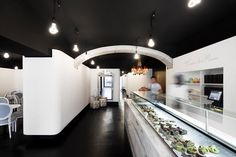 Project by 71 Arquitectos and David Carqueijeiro - Gourmet Pastry in Lisbon Pop Up, Home Office, French Patisserie, Patisserie Design, French Bakery, Pastry Design, Cafe Concept, Pastry Shop, Shop Interior Design