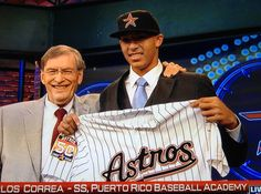 June 4, 2012 With the No. 1 pick in the Major League Baseball draft, the Astros take Carlos Correa, making him the first player from Puerto Rico to be selected number one overall. Before the selection of the 17-year-old shortstop from Barrio...