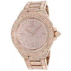 a58acb00d8be Michael Kors Camille Rose Gold Glitz Ladies Watch