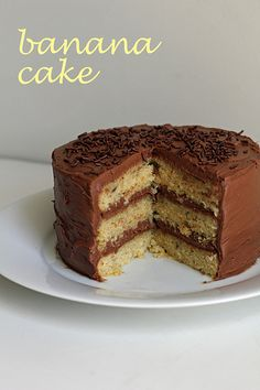 banana layer cake by awhiskandaspoon, via Flickr