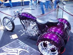 Nice Purple Trike by Specific Gravity. I think it would be awesome to drive this to work everyday & park it across the street from the college ;-)  flickr.com