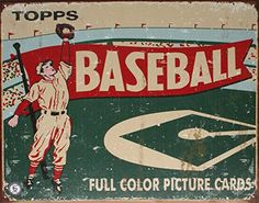 Tin Sign Dorm Room Decor - College Dorm Supplies for Dorm Room Decoration unique baseball illustration from older times looks cool as poster Vintage Tin Signs, Vintage Metal, Retro Vintage, Vintage Images, Tin Metal, Vintage Tools, Vintage Party, Antique Metal, Vintage Posters