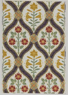 Gothic revival wallpaper from 1968---- this would make a great quilt pattern