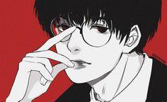 "vacuumchan: ""okay but kaneki with glasses "" Haise, Tsukiyama, Kaneki, Manga Art, Manga Anime, Tokyo Ghoul Fan Art, Kendo, Memento Mori, Fujoshi"