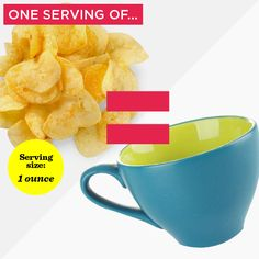 Need a lesson in portion control that doesn't include measuring cups, scales, and spoons? Use these conventional items to estimate a portion that best resembles the food label's official serving size. Calorie Intake, No Calorie Foods, Perfect Portions, Portion Sizes, Portion Control, Food Labels, Light Recipes, Diet And Nutrition, Serving Size