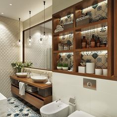 Bathroom decor for the master bathroom renovation. Learn bathroom organization, bathroom decor ideas, bathroom tile suggestions, bathroom paint colors, and more. Modern Bathroom Lighting, Modern Master Bathroom, Bathroom Wall Lights, Bathroom Wall Decor, Bathroom Layout, Modern Bathroom Design, Bathroom Interior, Small Bathroom, Bathroom Ideas