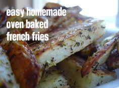 easy homemade oven baked french fries