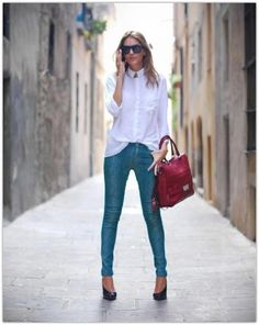 7dbac48a3b6 23 Amazing White Shirt and Jeans images