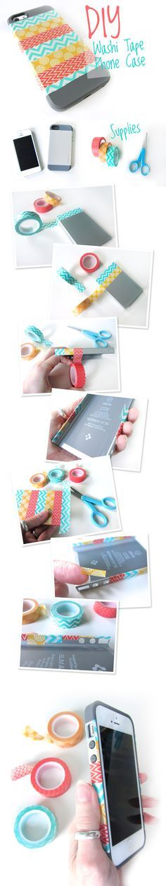 Cute Washi Tape phone case  #washi #crafts