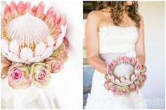 Love the colour of the roses with the protea Protea Wedding, Wedding Bouquets, Wedding Flowers, Wedding Stuff, Protea Bouquet, Protea Flower, Flower Bouquets, Popular Flowers, Black Wedding Dresses