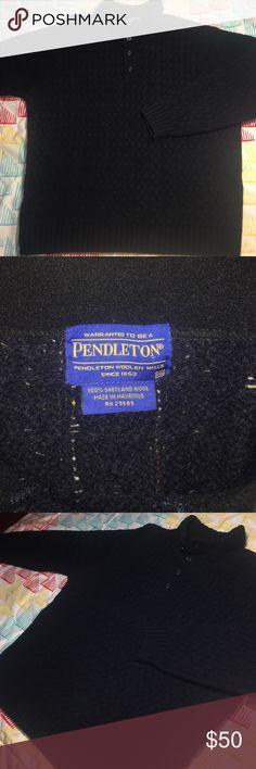 Pendleton 100% Shetland Wool 3 Button Sweater Size XXL Men's - Fits an XL - Like new Pendleton Sweaters