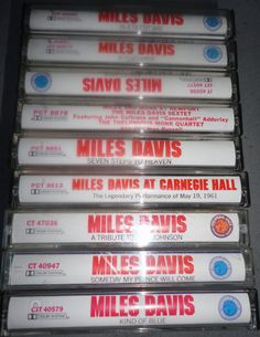 9 MILES DAVIS cassette tape LoT vintage music by VintageTrafficUSA, $43.50