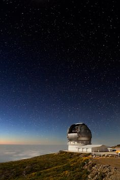One of the world's cleanest skies.  Astrophysical observatory, La Palma (Canary Islands)