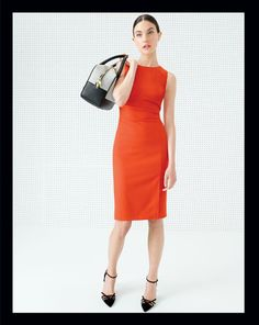 MAR '14 Style Guide: J.Crew Gwen dress and the Collection Audrey suede pumps.