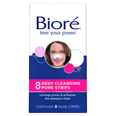 """Bioré Deep Cleansing Pore Strips ($7, ulta.com) """"These are great for people with clogged or enlarged pores on the nose and chin,"""" says Bank. Apply the strips to moist skin after cleaning your face. You can also try holding your face over a basin of hot water with a towel over your head before you apply the strips. The steam will help loosen any clogs, making it easier for the adhesive strips to grab and remove them."""