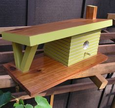 In Stock-Mid Century Modern Birdhouse Contemporary Birdhouse