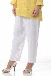 Linen Slim Pants (white, black, mocha, charcoal, coral)