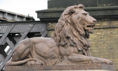 sitting lion sculpture back - Google Search