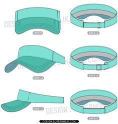 visor hat template Fashion Vector, Hat Template, Bag Illustration, Panel Hat, Visor Hats, Technical Drawing, Design Model, Fashion Sketches, Mockup