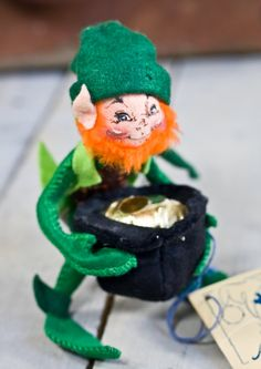 Vintage Annalee Doll  LEPRECHAUN with Pot by TheVintageIslandInc, $15.00