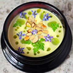 Ajo Blanco: the White Gazpacho of Málaga  - with almonds and grapes -- one of the best cold soups ever...