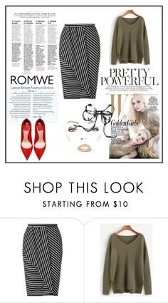 """""""Romwe"""" by apple-45 ❤ liked on Polyvore featuring Miss Selfridge"""