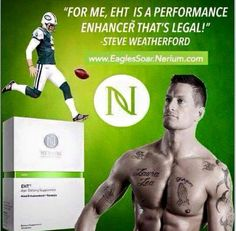 Steve Weatherford uses and recommends EHT! Http:// cindyfillmore.nerium.com