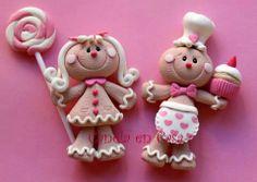 Bonequinhos de biscuit