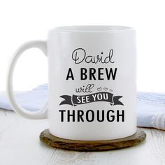 Are you in search of a thoughtful Get Well gift for someone in need? Shop our exclusively designed 'A Brew Will See You Through' tea mug, perfect for cheering someone up who's feeling under the weather...
