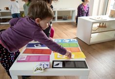Color sorting for toddlers -- beautiful Montessori environment
