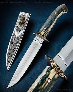 Maker: Curt Erickson & Julie Warenski-Erickson Website: curtericksonknives.com