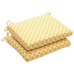 Pillow Perfect Indoor/Outdoor Yellow/White Geometric Square Seat Cushion, 2-Pack by Pillow Perfect, http://www.amazon.com/dp/B006VN3MZU/ref=cm_sw_r_pi_dp_W4fyrb0VDEF4H