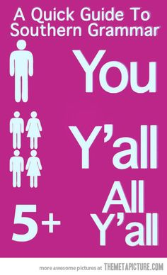 Quick guide to southern grammar.... Haha true!