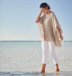 new product 8f0f4 5fdef Pure Jill - The Art Of Ease Faldas Tubo, Traje De Vaquero Blanco, Pantalones