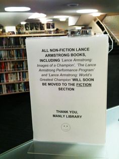 This Australian Library knows how to deal with Armstrong.