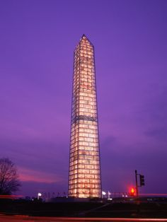 washington monument with scaffolding. simply beautiful.