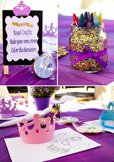 Once upon a time, Princess Mia met Princess Sophia! It was quite the feast of royal sweets, radiant smiles, and princess crown crafts organized by Lourdes Princess Sofia Birthday, Sofia The First Birthday Party, Gold First Birthday, Purple Birthday, 4th Birthday Parties, Princess Party, 5th Birthday, Birthday Ideas, Birthday Cake