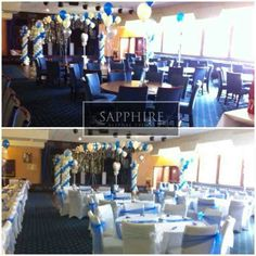 Dressed Venue - Before and after - By Vikki - At Sapphire Bespoke Events, 59 Poulton Road, Wallasey, Wirral