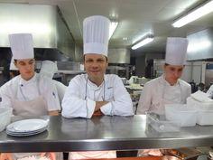 Patrick Bertron en cuisine au Relais Bernard Loiseau à Saulieu