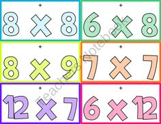 Multiplication Facts Lanyard Tags - FREE product from FlapJack-Ed-Resources on TeachersNotebook.com
