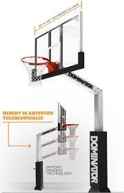 Latest Innovation Of Basketball Hoops... The Dominator. Provides Greater  Durability, Easy