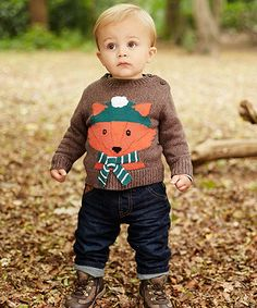 Fox Novelty Jumper - jumpers & cardigans - Mothercare